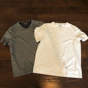 Tasso Elba 2 Lot Mens Large V Neck Tee T Shirt